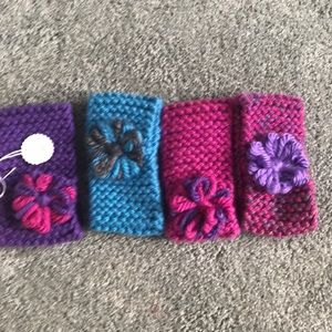 Hand knit heads bands